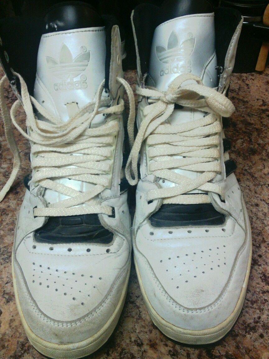 Annata 1980 È Adidas Basket Cuoio Scarpe Sz 11 In Cuoio Basket 66cb72