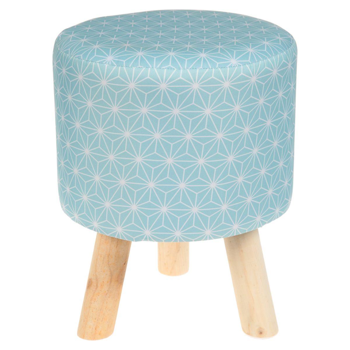 pouf rond trois pieds bois 31 x h 38 cm asahona pinterest poufs and ottomans. Black Bedroom Furniture Sets. Home Design Ideas