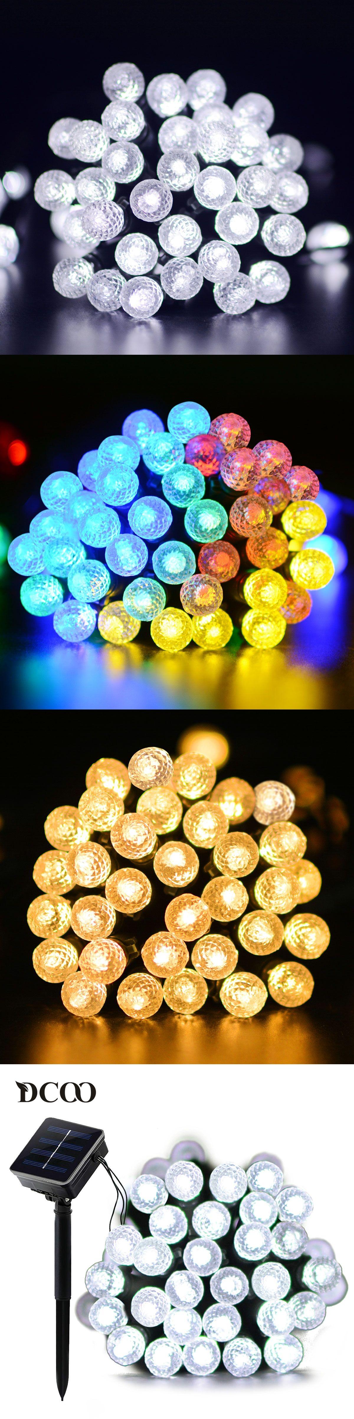 lights lighting decorative string led auraglow solar light set of