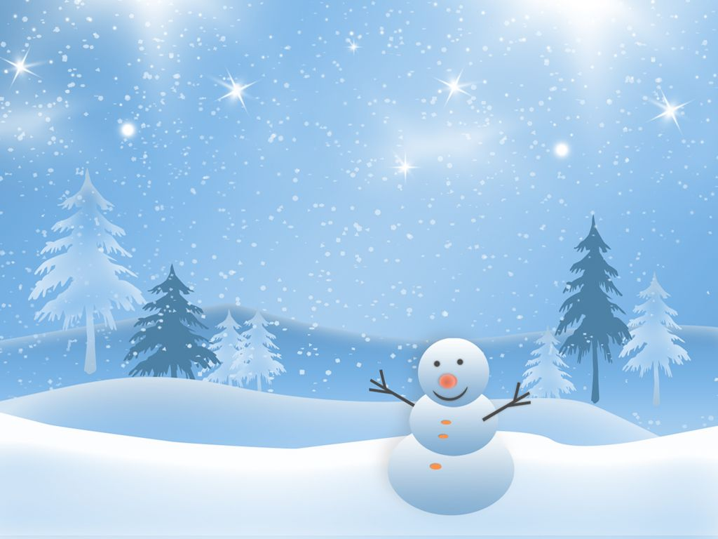 free christmas background clipart Cute Christmas snowman clip