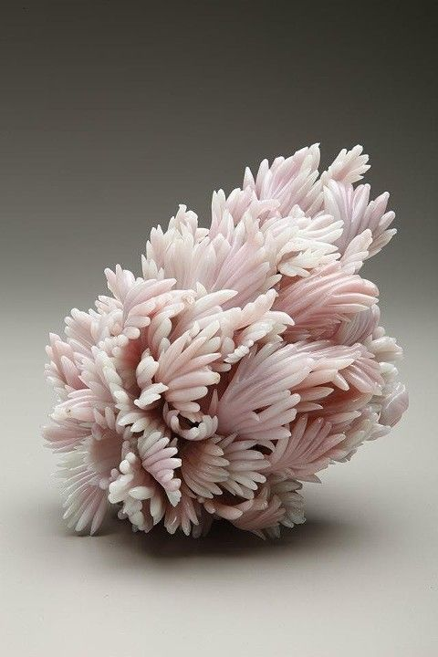 Amber Cowan, Peach Blow Away, Flameworked Recycled Glass and mixed media, 2012