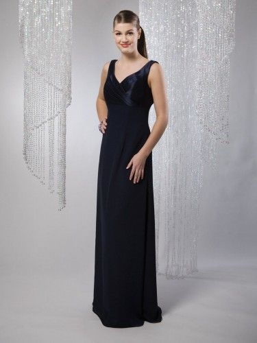 Taffeta Back Cowl Neckline Mock-wrap Gathered Bodice A-line Bridesmaids Dress