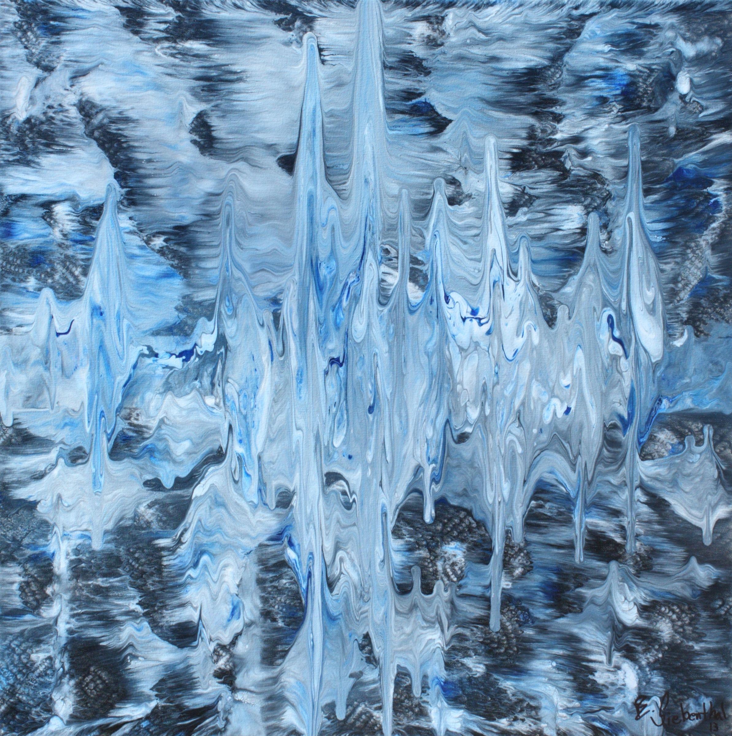 "Wave Length by Eric Siebenthal | $250 | 24""w 24""h | Original Art | http://www.arttwo50.com/buy/art/wave-length"