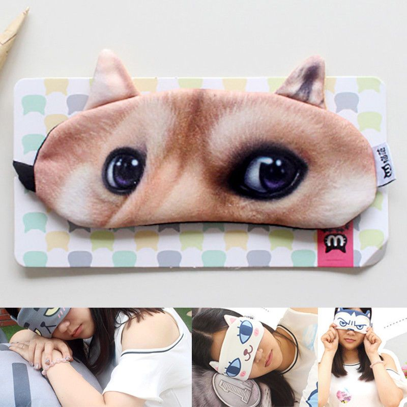f86d44ffd94 3D Soft Eye Mask Padded Sleep Travel Shade Cover Rest Relax Sleeping  Blindfold