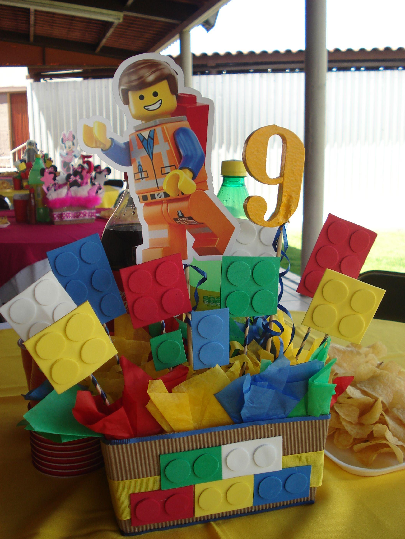 CENTRO DE MESA LEGO | Party | Pinterest | Lego birthday ...