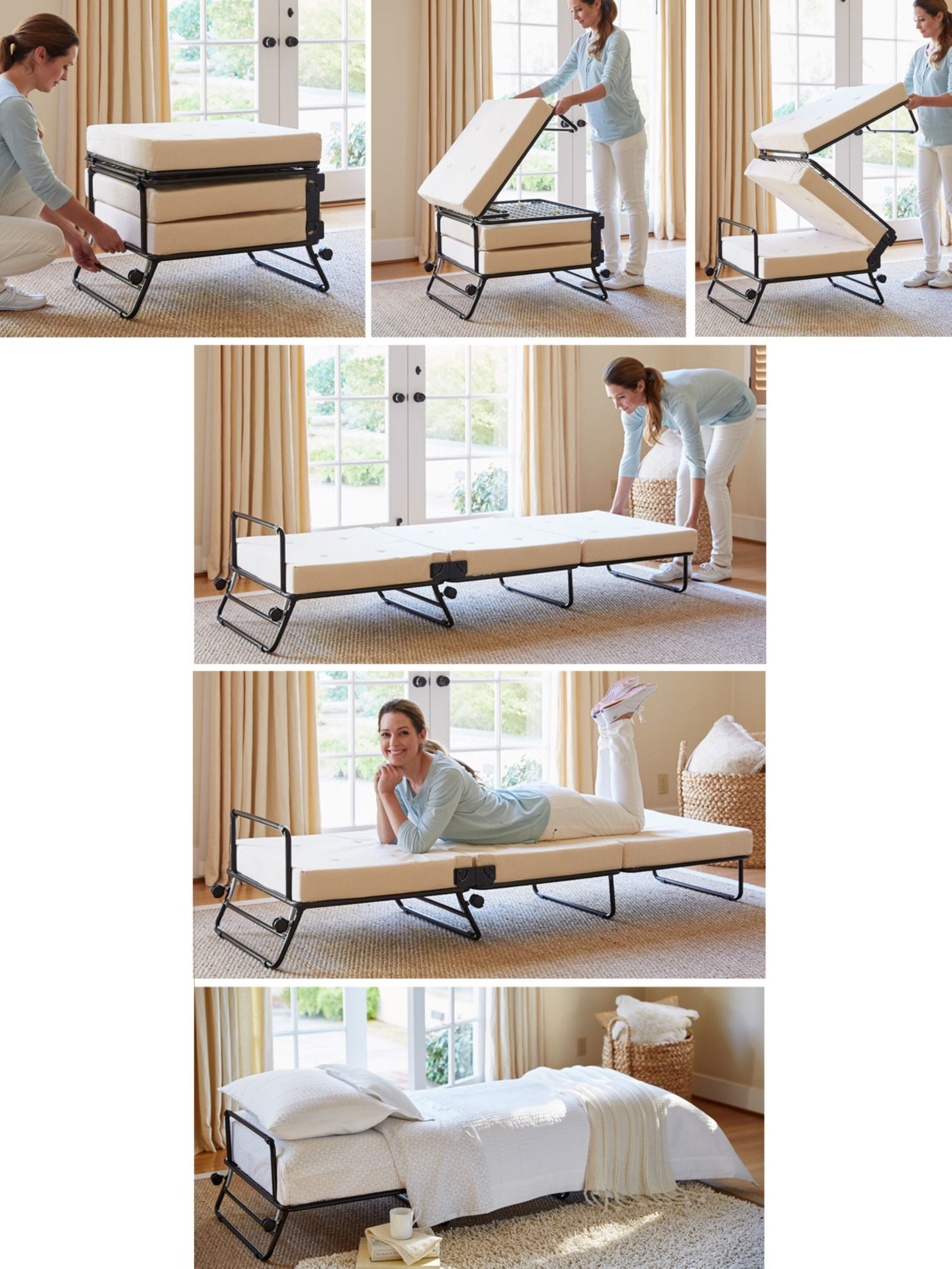 Fold Out Ottoman Bed - Fold out ottoman bed hide your guests in plain sight with the fold out