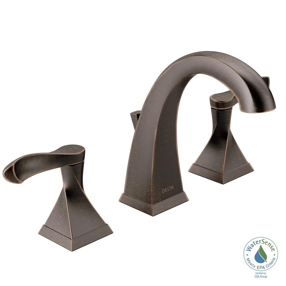 Delta Everly 8 In Widespread 2 Handle Bathroom Faucet In Venetian