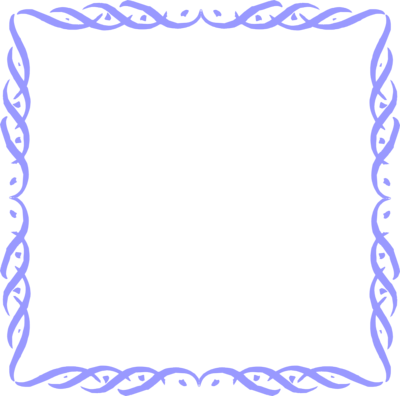 transparent frames and borders of a blank blue frame border