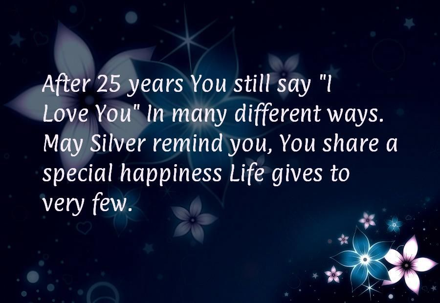 Best collection of Happy 25th Anniversary cards with romantic - best wishes in life