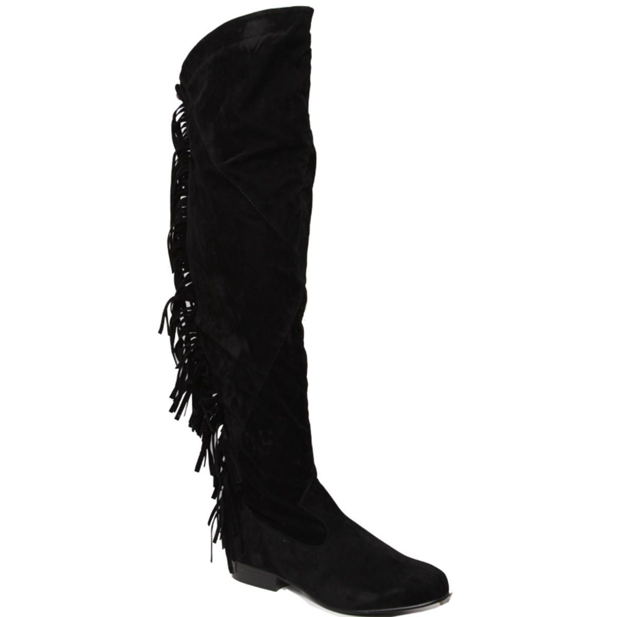 07e0d307811 thigh boots   Item Details - Suede Fringed Thigh Boots   BOOTS ...