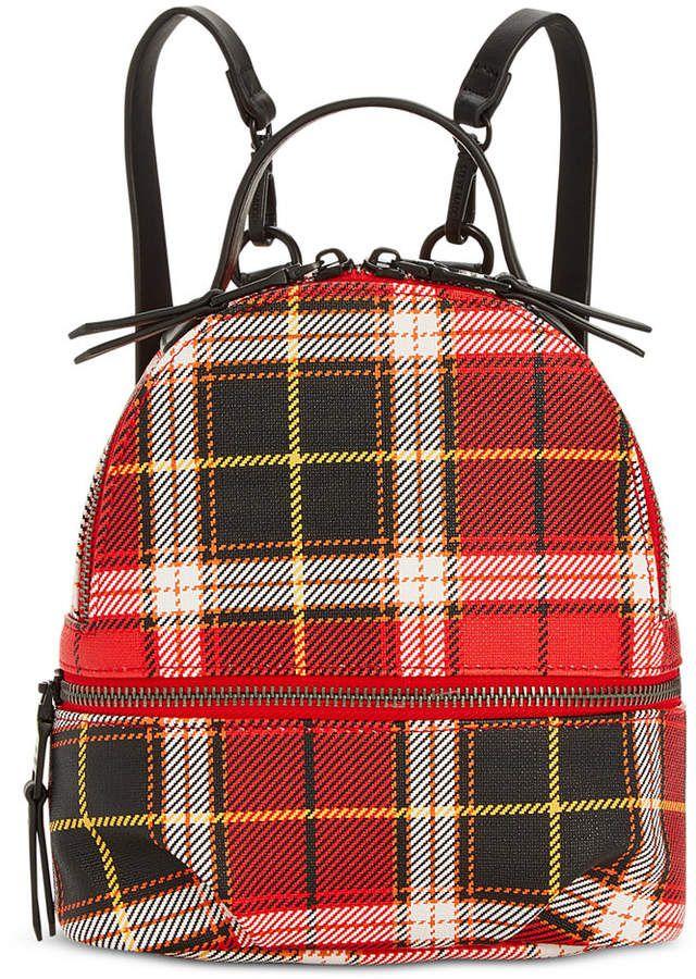 Steve Madden Val Plaid Backpack Backpack Online b8812741577e2