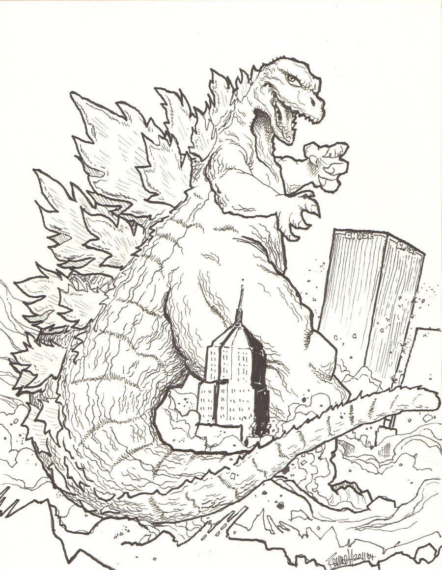 Godzilla Coloring Pages Godzilla Birthday Party Godzilla