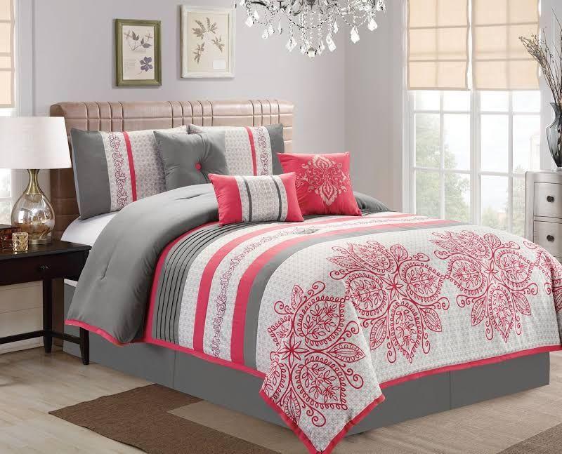 Fuschia And Grey Bedding King Comforter Sets Comforter Sets Grey Comforter Sets