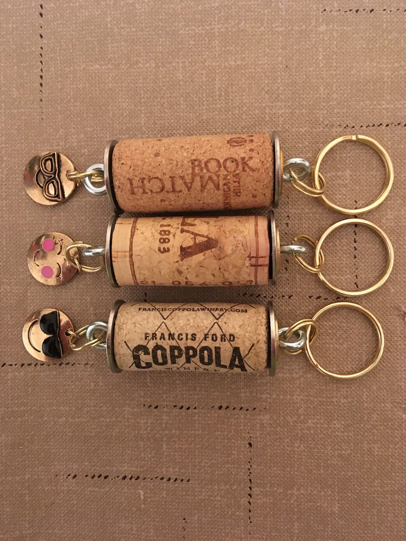 Floating Keychain For The Boat Keys Our Secret Crafts Wine Cork Crafts Wine Cork Diy Wine Cork Ornaments