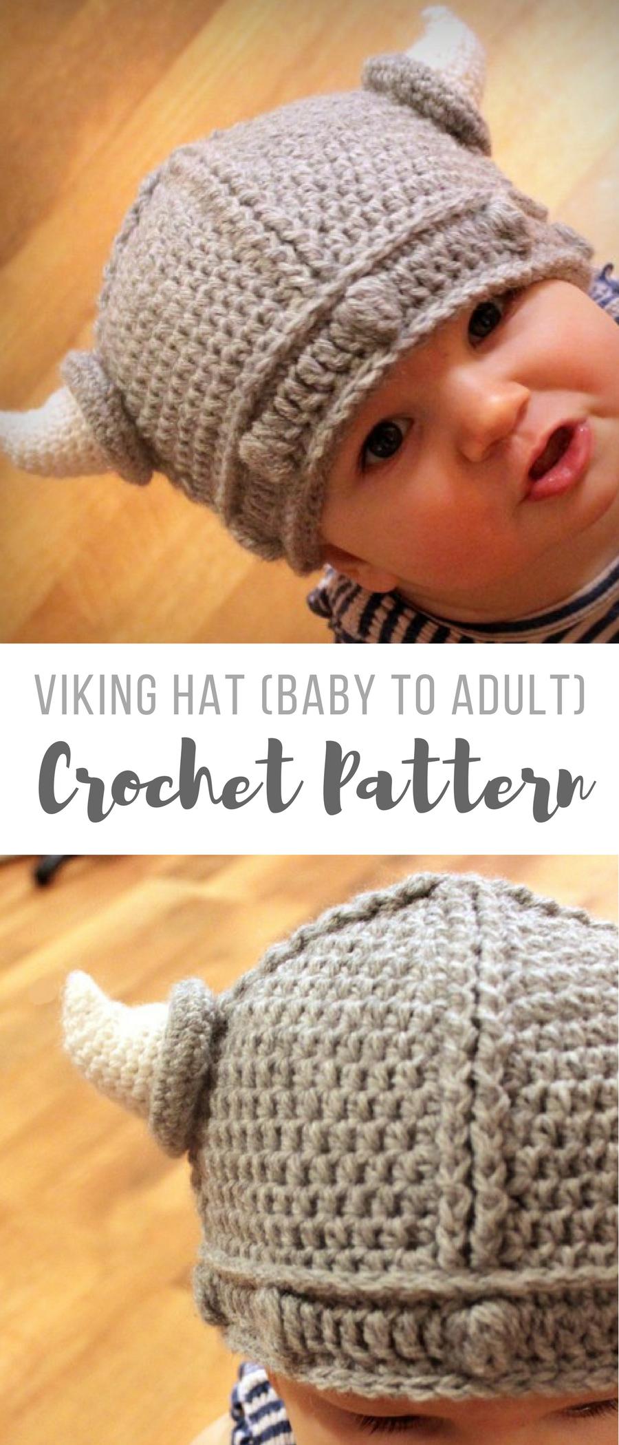 awww a little crochet viking hat for brandon! this crochet pattern ...
