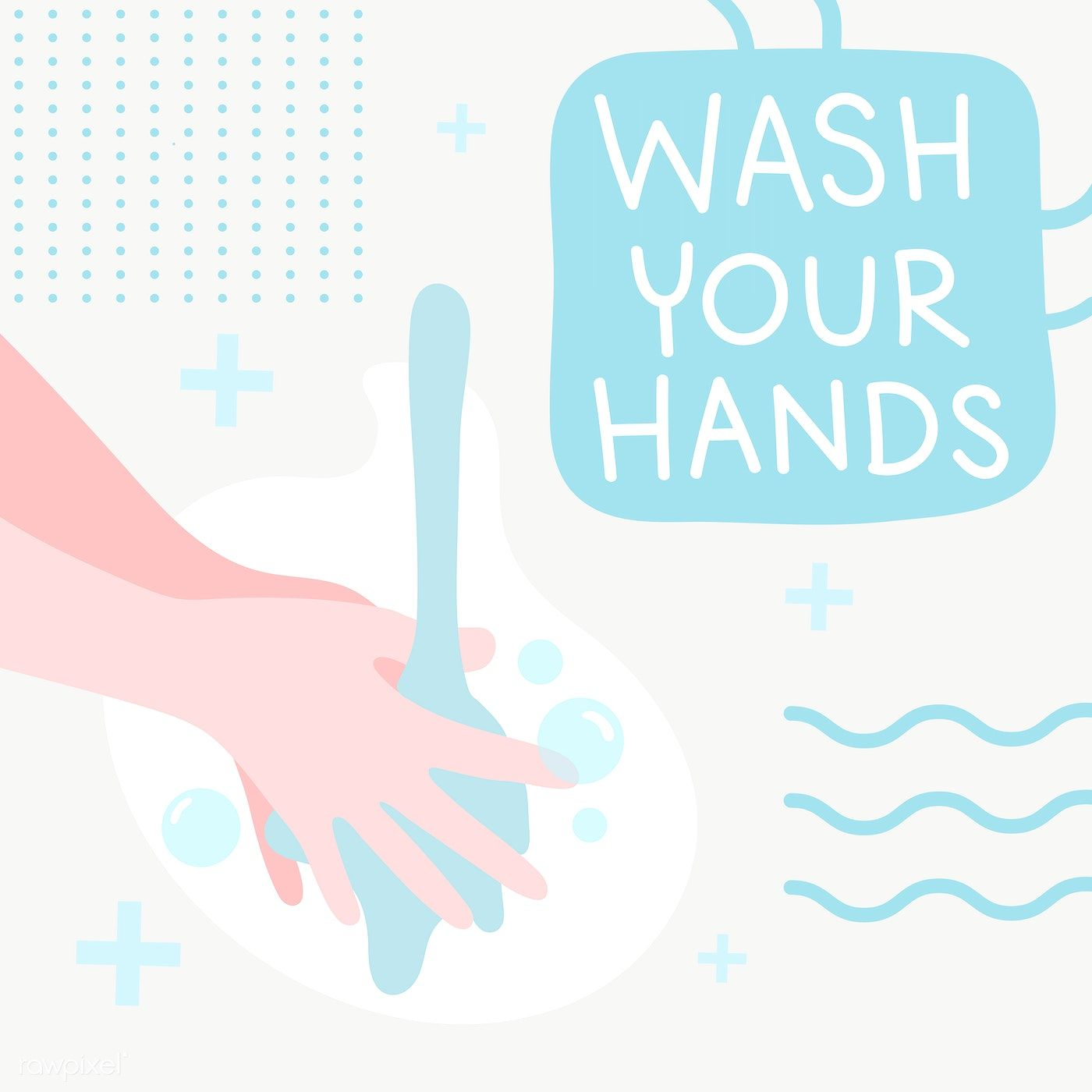 Wash Your Hands Sanitary Message Transparent Png Free Image By Rawpixel Com Techi Wash Your Hands Banner Template Water Illustration
