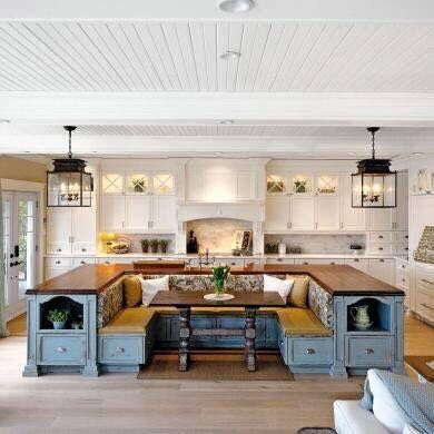 Using A Wrap Around Bench Surrounding Your Kitchen Table For The Center Of Great Family Time