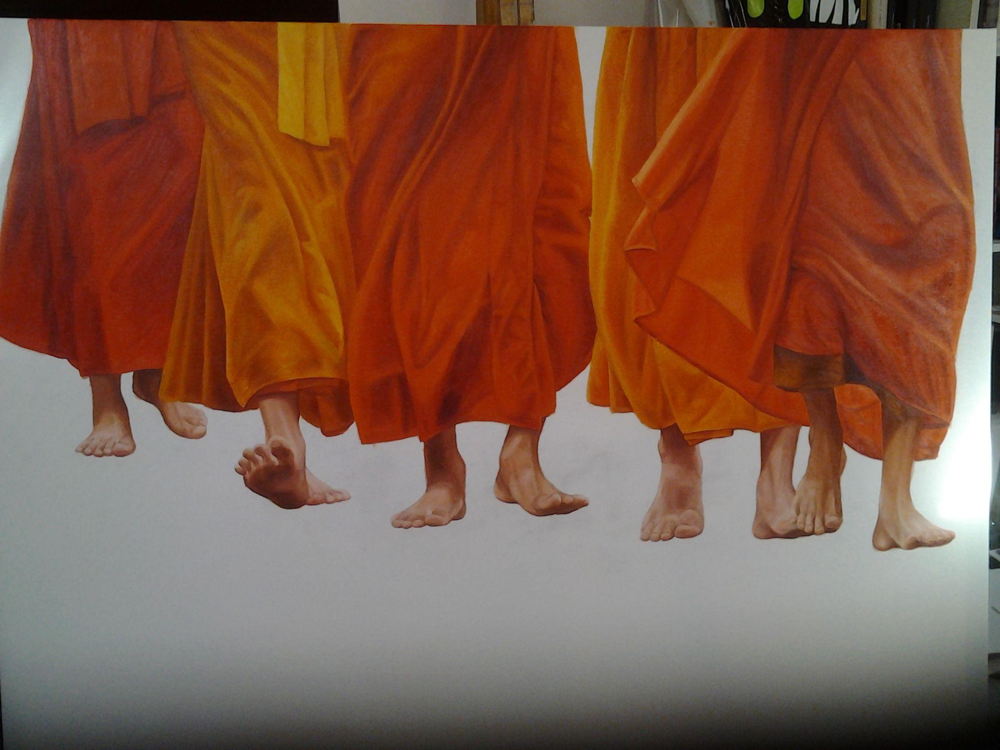Waarom monniken ook oranje dragen oranje is een zeer warme