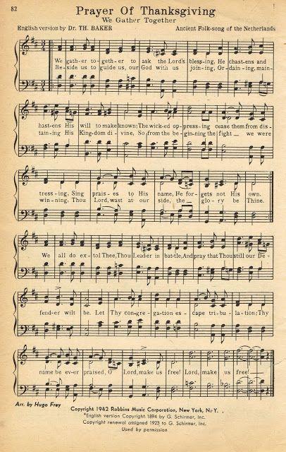 Thanksgiving Printable Thanksgiving Prayer Hymn Book