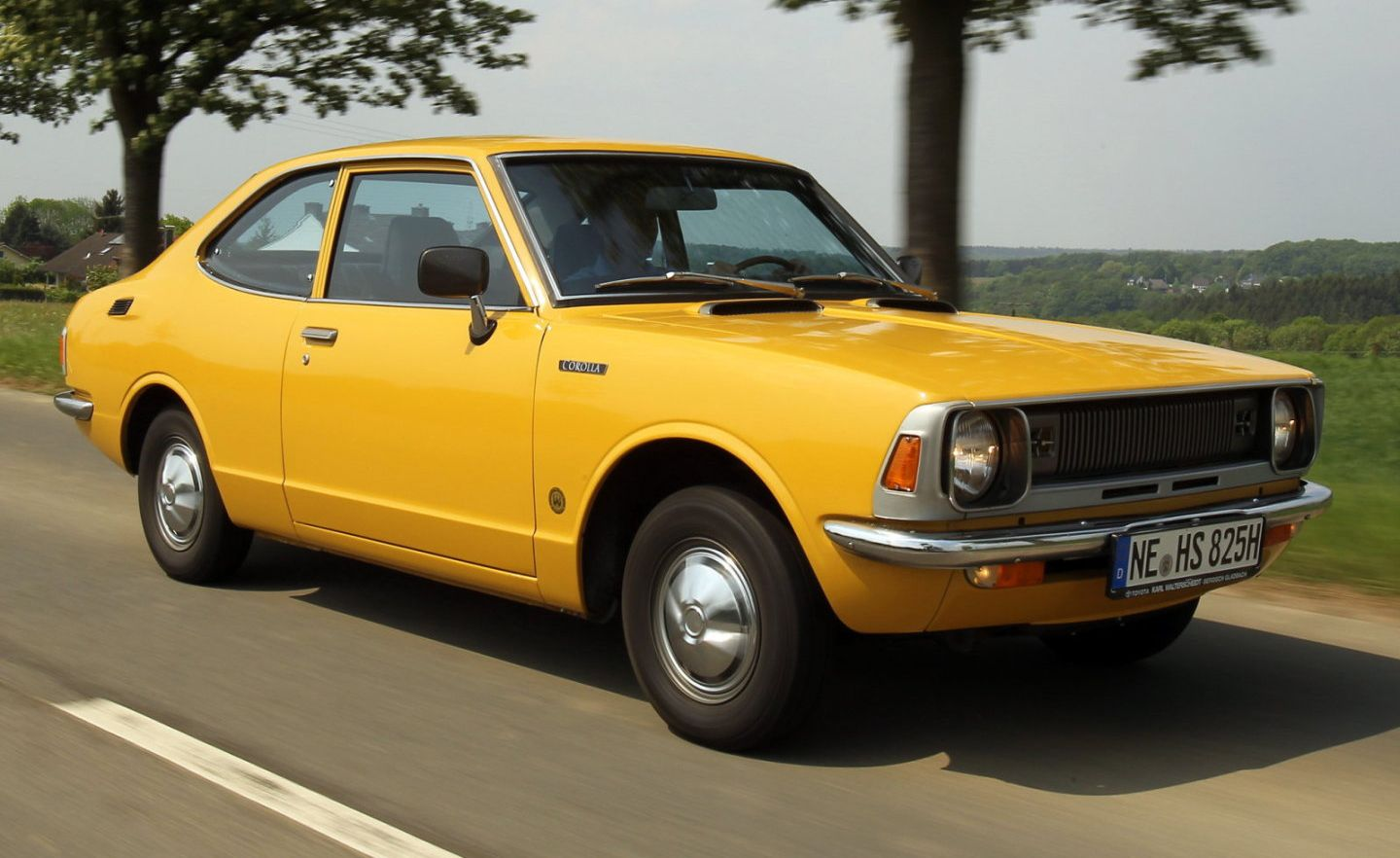 Toyota corolla fifth car owned it used to belong to my first wife s uncle had an eight track system with only one tape john denver the car eventually
