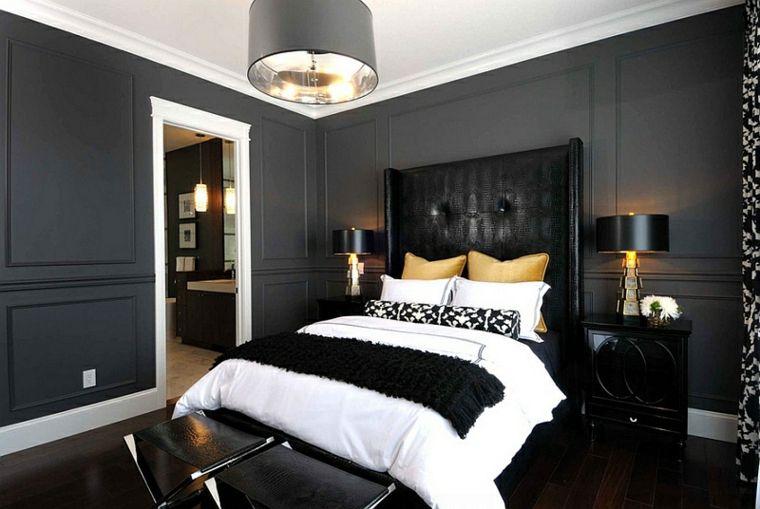 Schwarze Farbe im Schlafzimmer - fantastische Deko-Ideen Zimmer