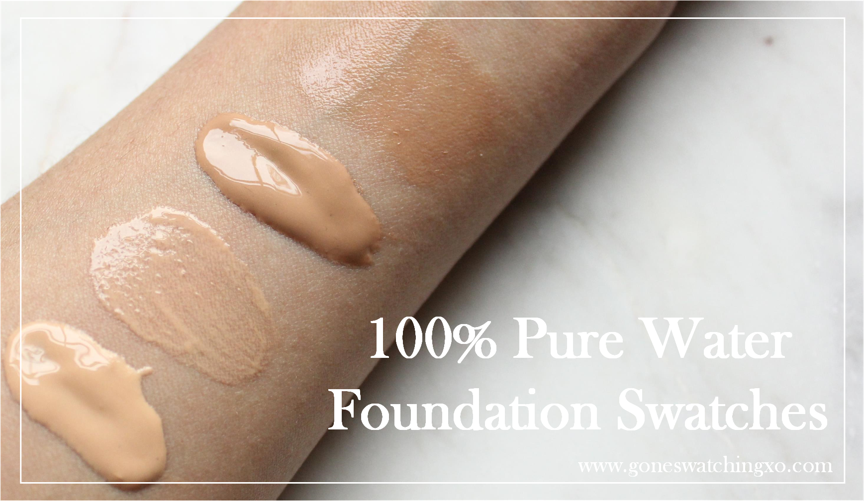 100 Pure Fruit Pigmented Water Foundation Review and