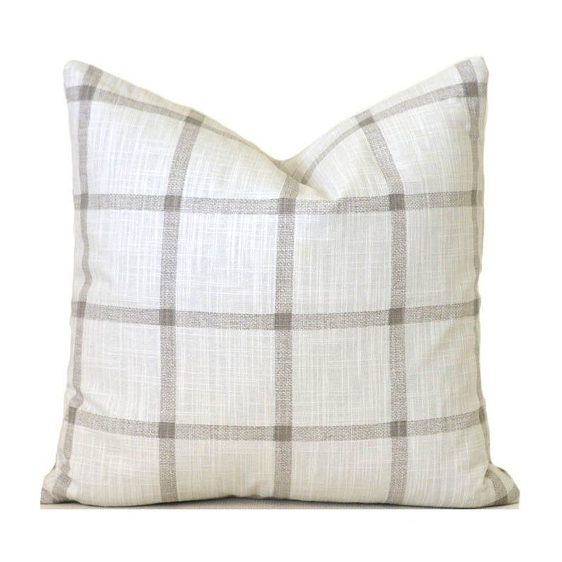 Farmhouse pillow covers any size decorative home decor tan
