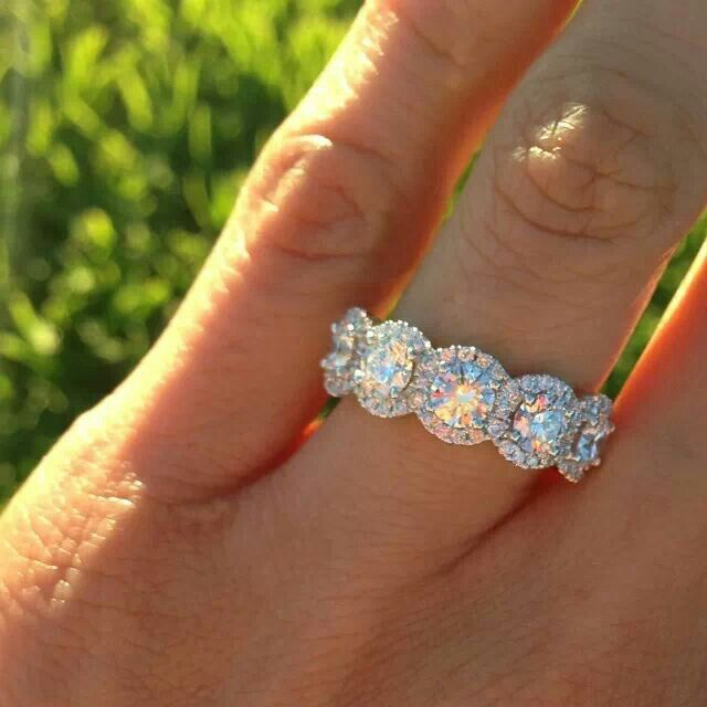 Fire And Ice Engagement Ring