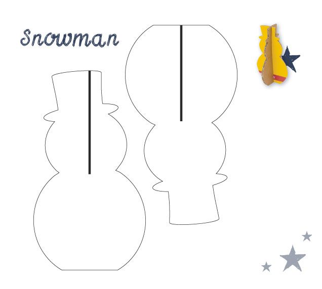 Get creative this Christmas with DHL! Just carefully cut your DHL - snowman template