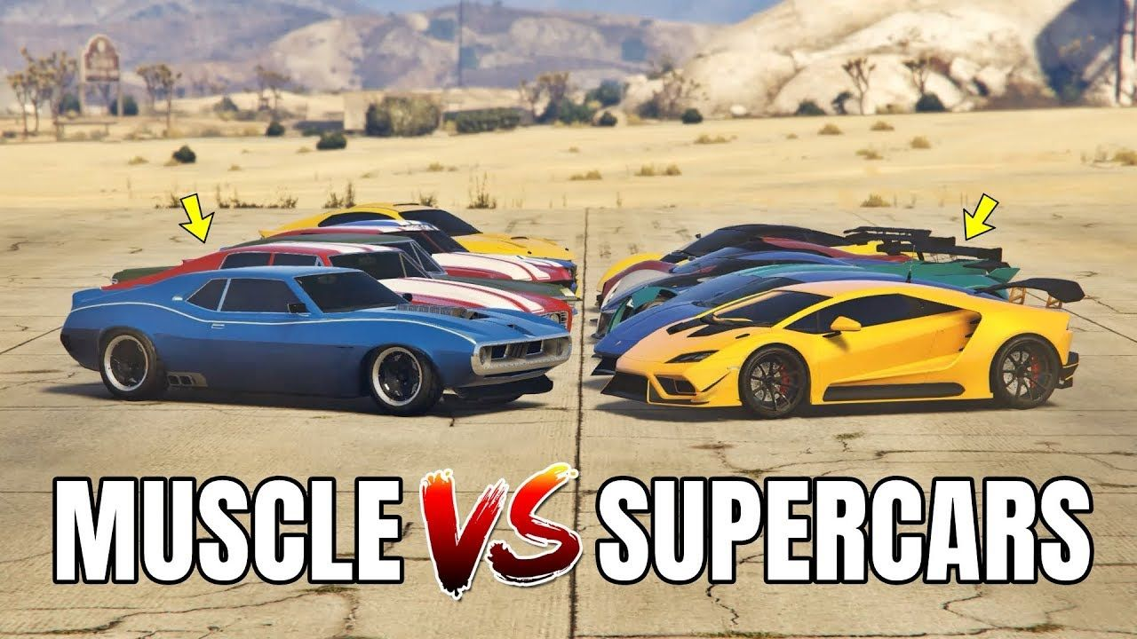 Gta 5 Online American Muscle Vs Italy Supercars Which Is Fastest Super Cars Gta 5 Online Gta 5
