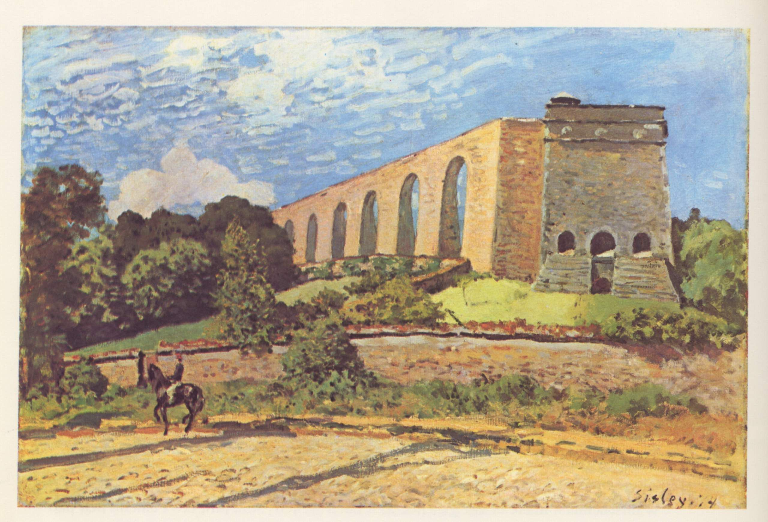 The Aqueduct at Marly by @artistsisley #impressionism