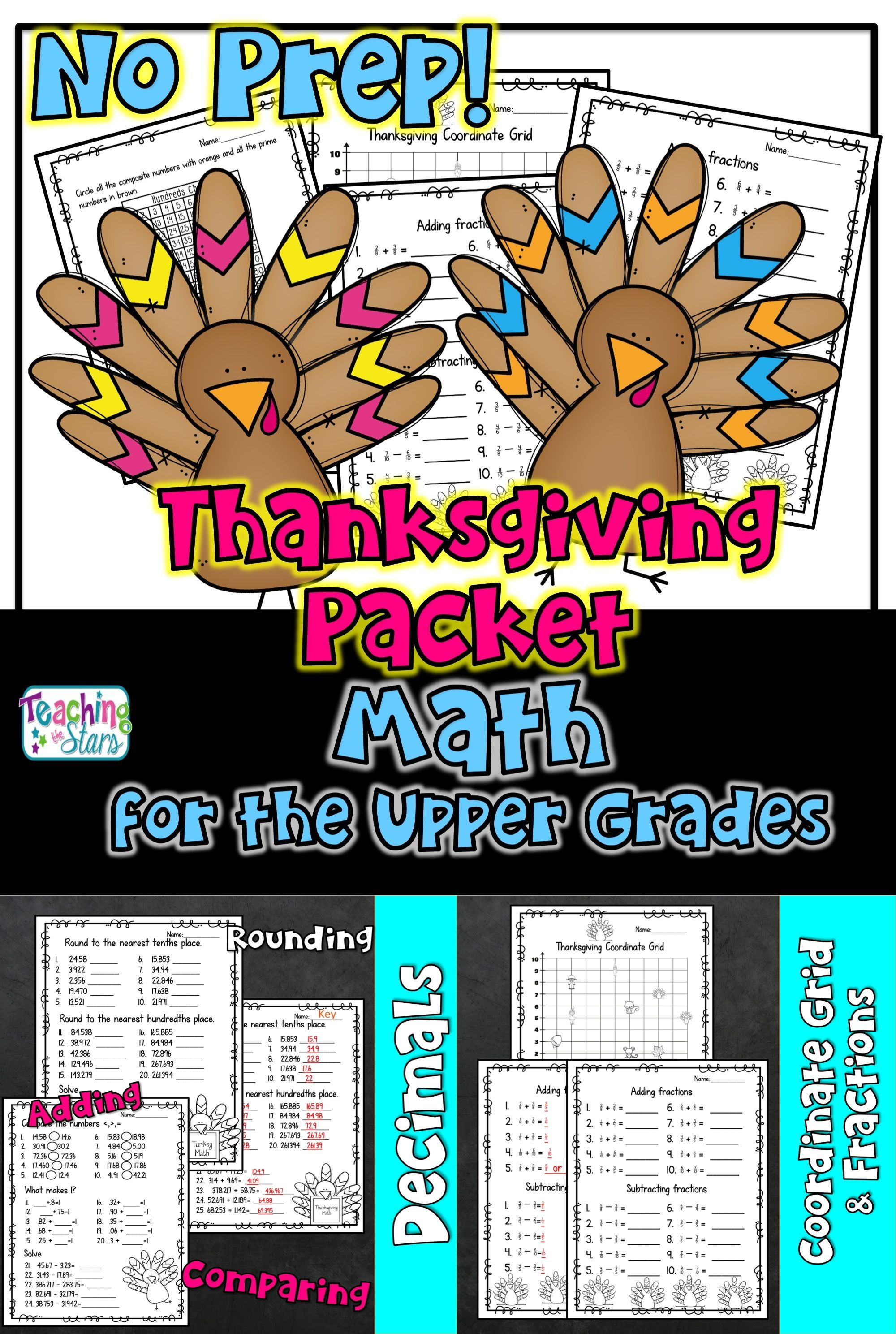 Thanksgiving Math Worksheets With Images