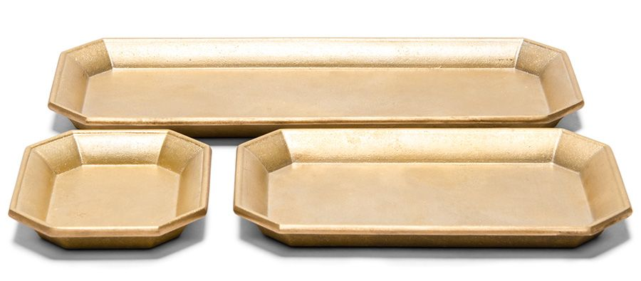 Oji Masanori Brass Desk Trays (3 sizes) - Kaufmann Mercantile