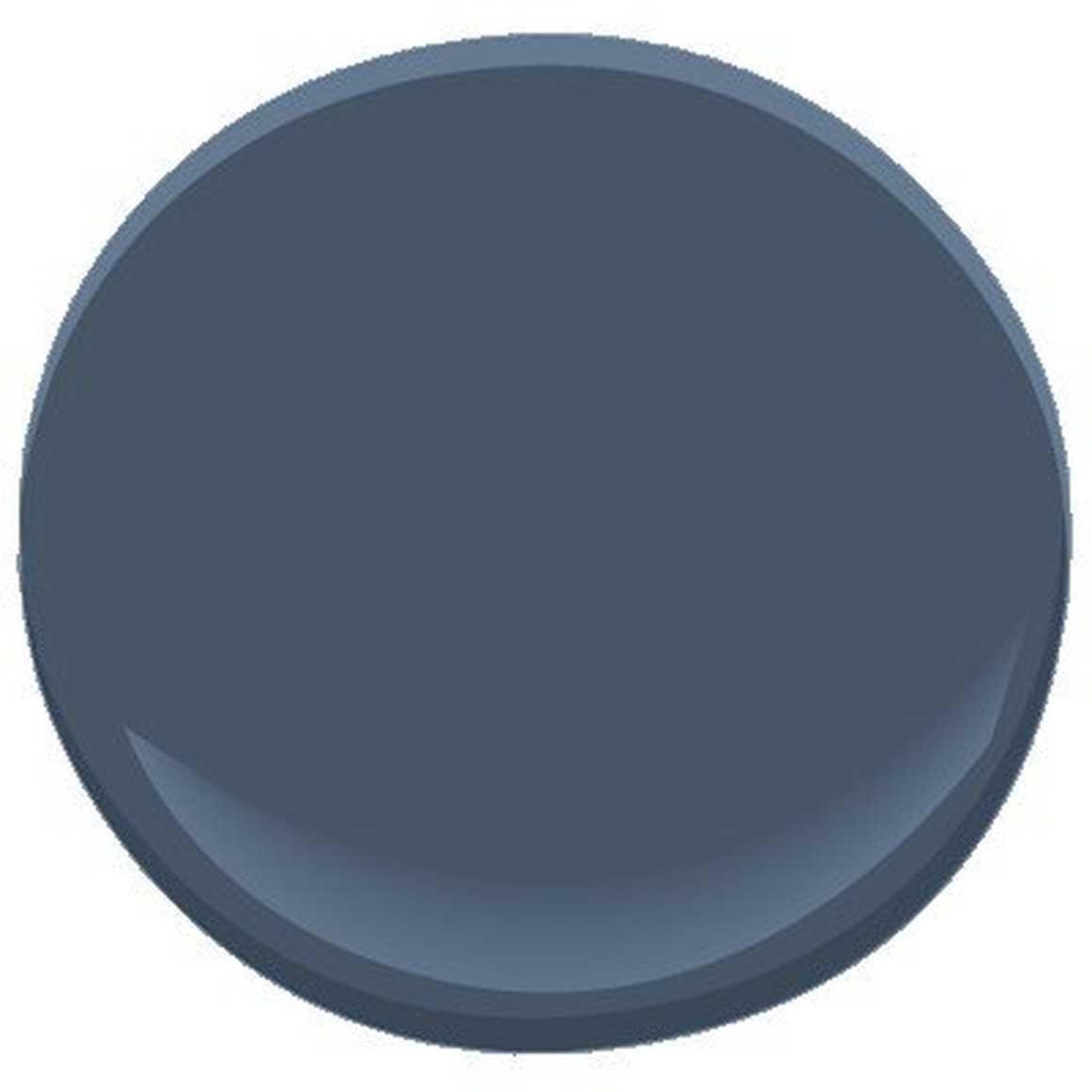 Neutral Colors For Small Powder Rooms: Benjamin Moore Newburyport Blue... By Benjamin Moore In