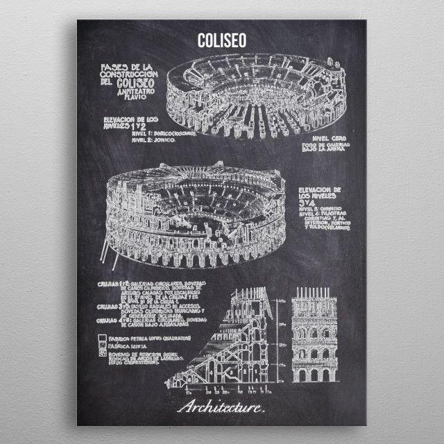 coliseo by FARKI15 DESIGN | metal posters - Displate | Displate thumbnail