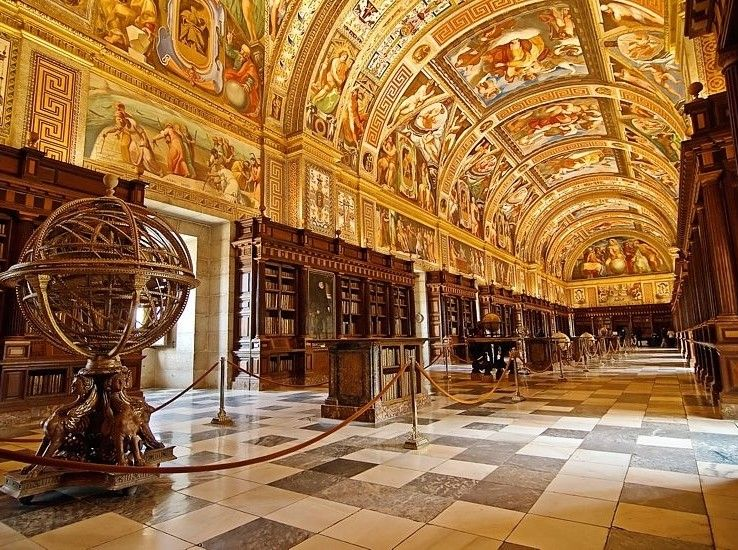 Library At The Royal Seat Of San Lorenzo De El Escorial San