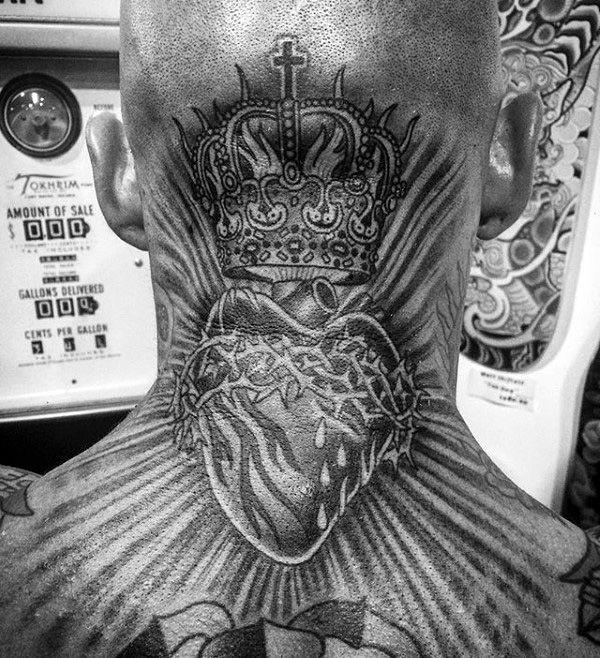 Top 99 Sacred Heart Tattoo Ideas 2020 Inspiration Guide Sacred Heart Tattoos Neck Tattoo Back Of Neck Tattoo