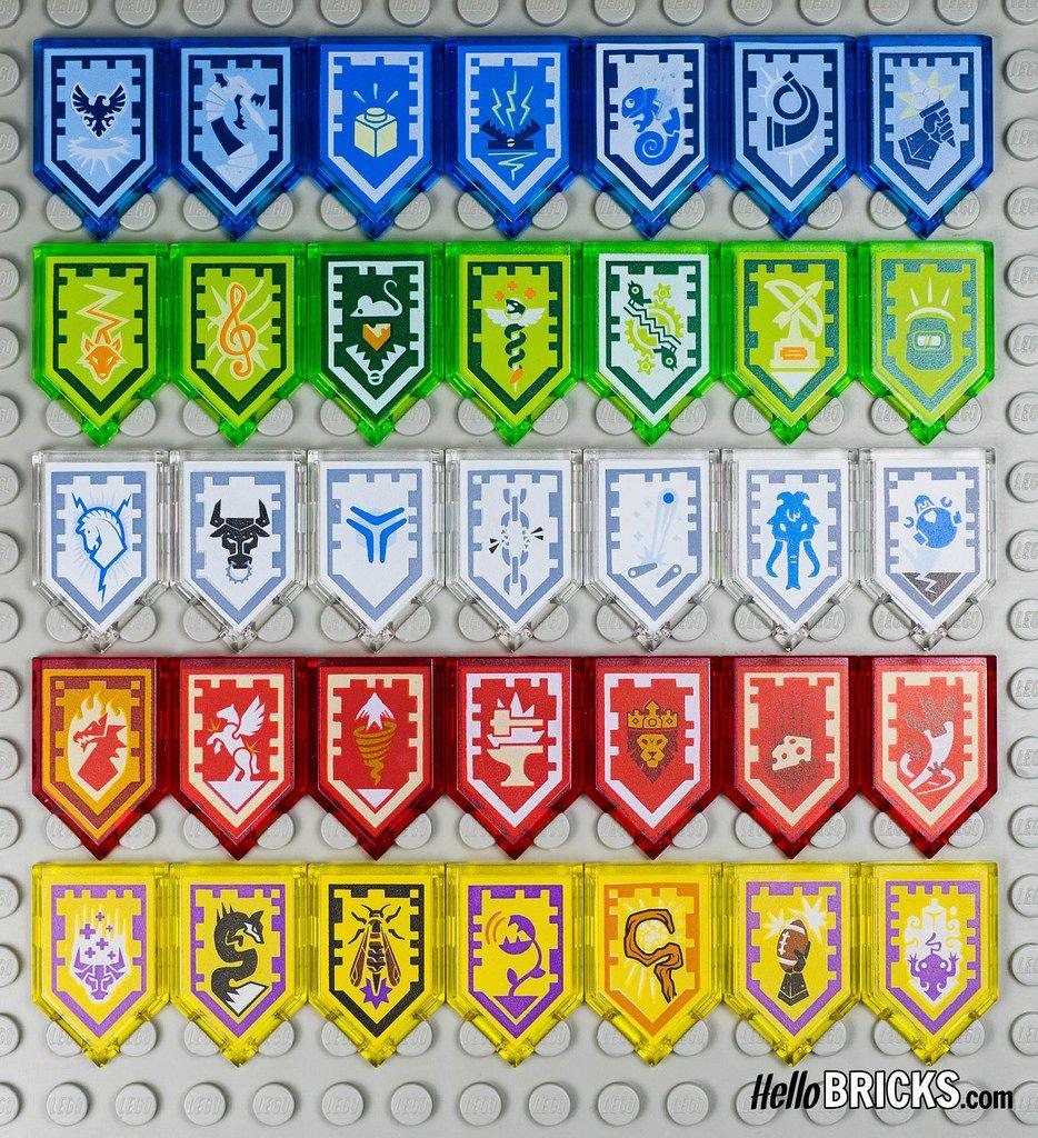 Nexo Knights Ausmalbilder Schilder : Lego 70372 Nexo Knights Wave 1 Collectible Shields