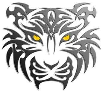 40 Image Simple Tattoos Tribal Tiger Tattoo Tiger Head Tattoo Tribal Tiger