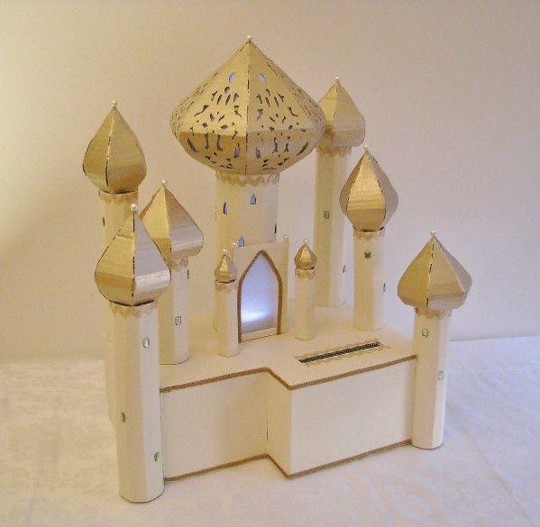 Urne de mariage th me mille et une nuit ivoire et or 4 - Decoration mariage mille et une nuit ...