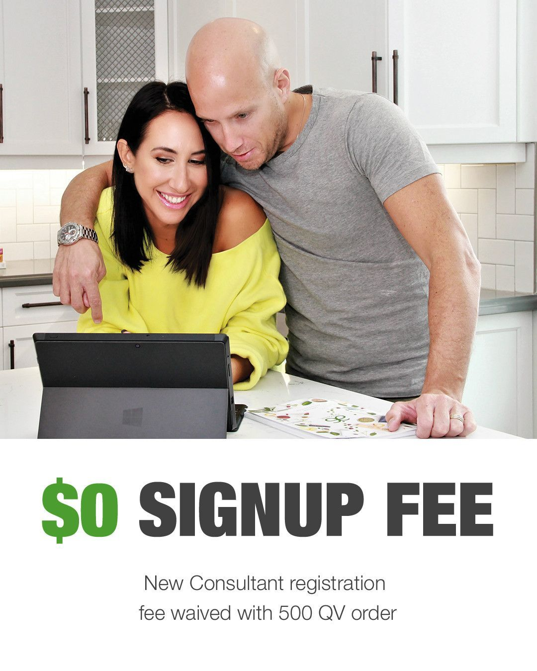 April special free sign up fee with qualifying purchase
