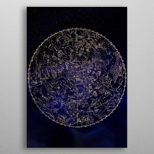 Astronomy Astrology Poster made out of metal of the of for aspiring or space into