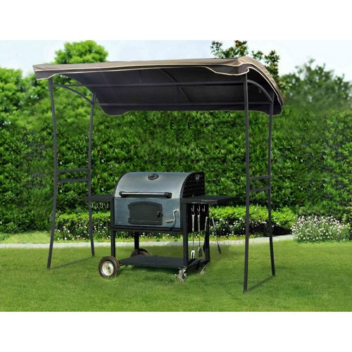 Curved Grill Shelter Via Walmart Gazebo Replacement Canopy