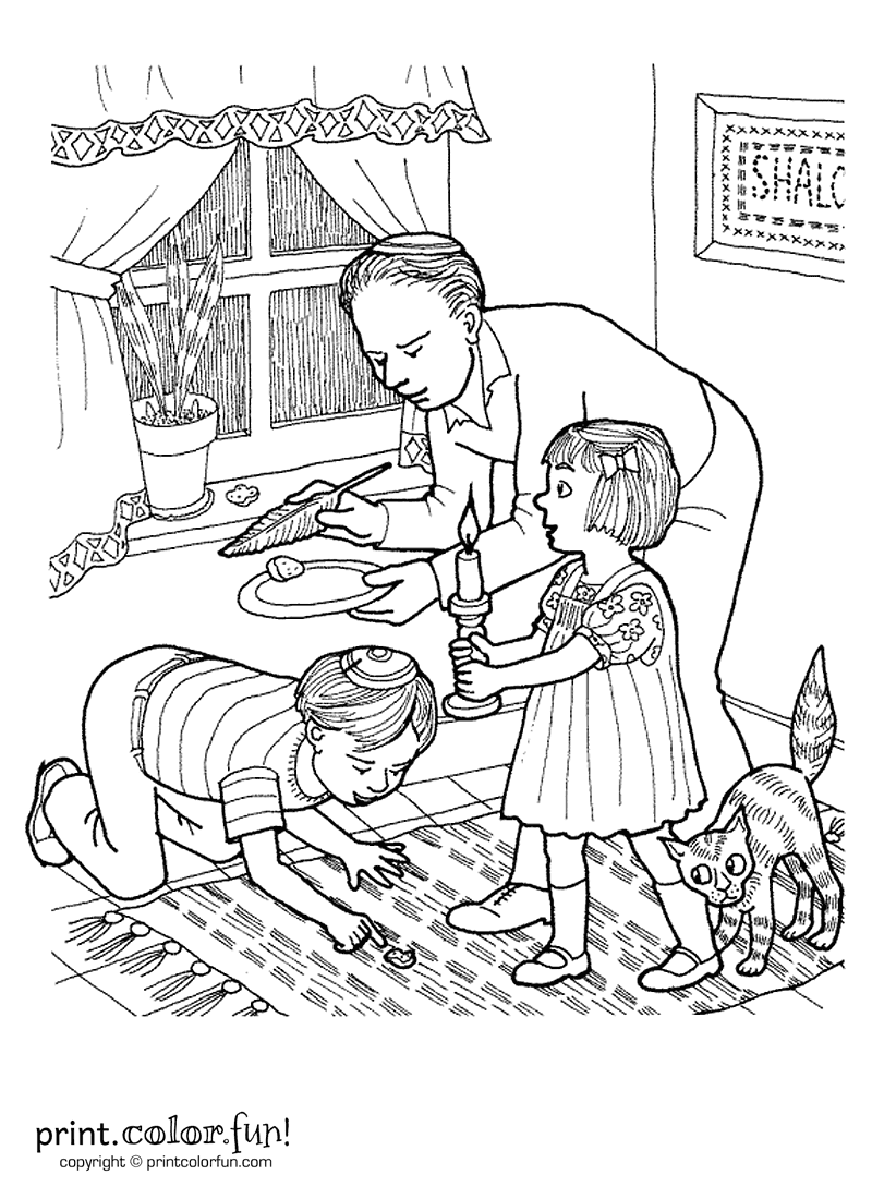 Passover Search For Chametz Print Color Fun Free Printables Coloring Pages Crafts Puzzles Cards To Print Coloring Pages Jewish Crafts Coloring Books [ 1100 x 800 Pixel ]