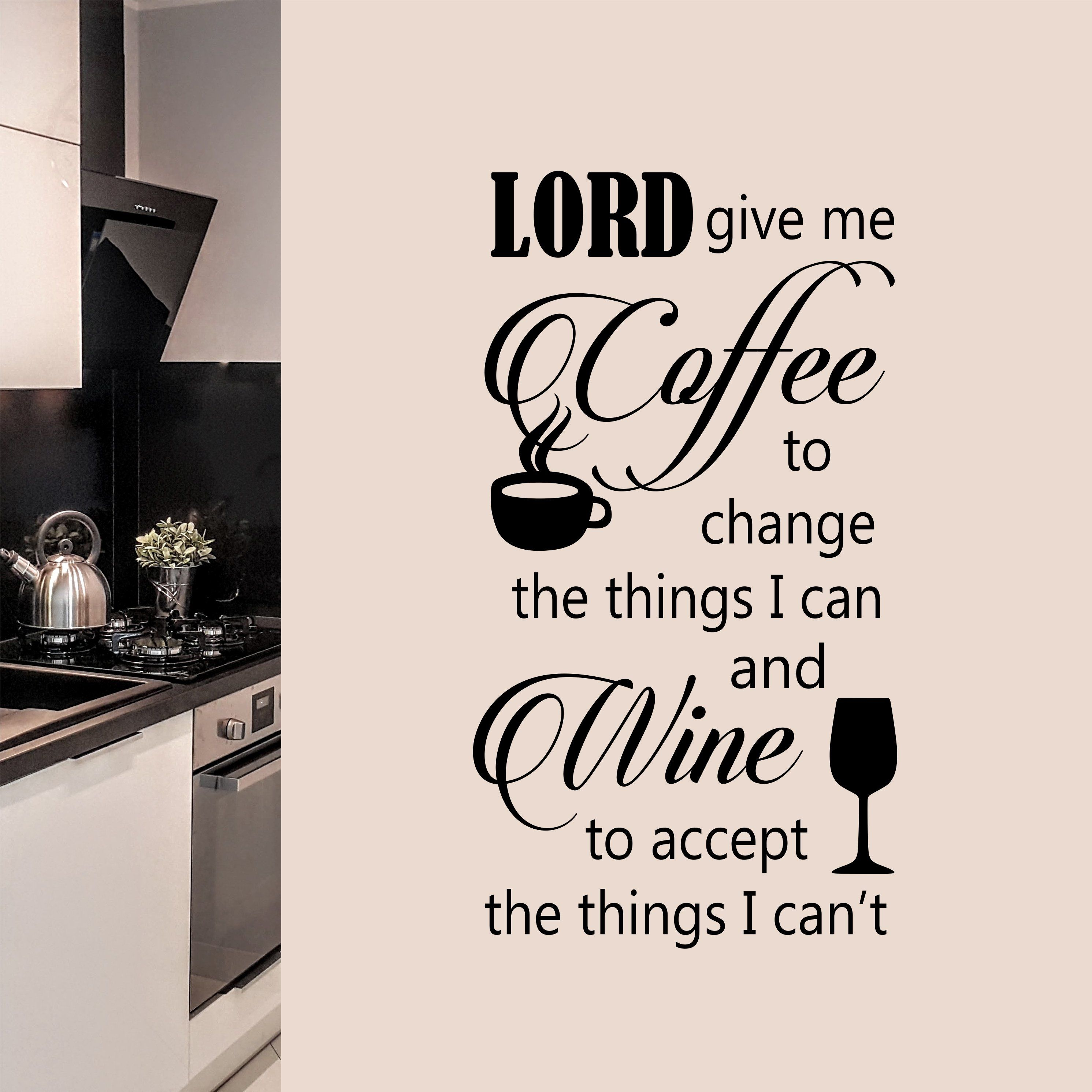 coffee wall decal funny serenity prayer kitchen lettering letter wall kitchen wall quotes on kitchen decor quotes wall decals id=91733