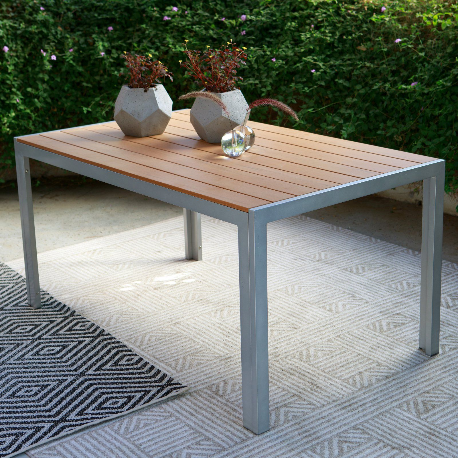 Coral Coast Southwick Outdoor Aluminum Faux Wood Patio Dining