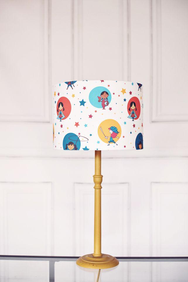 20 Cm Powerful Girls Lampshade Girl Power Lamp Childrens Lampshade Kids Lamps Kids Lamps Nursery Lighting Diy Table Lamp