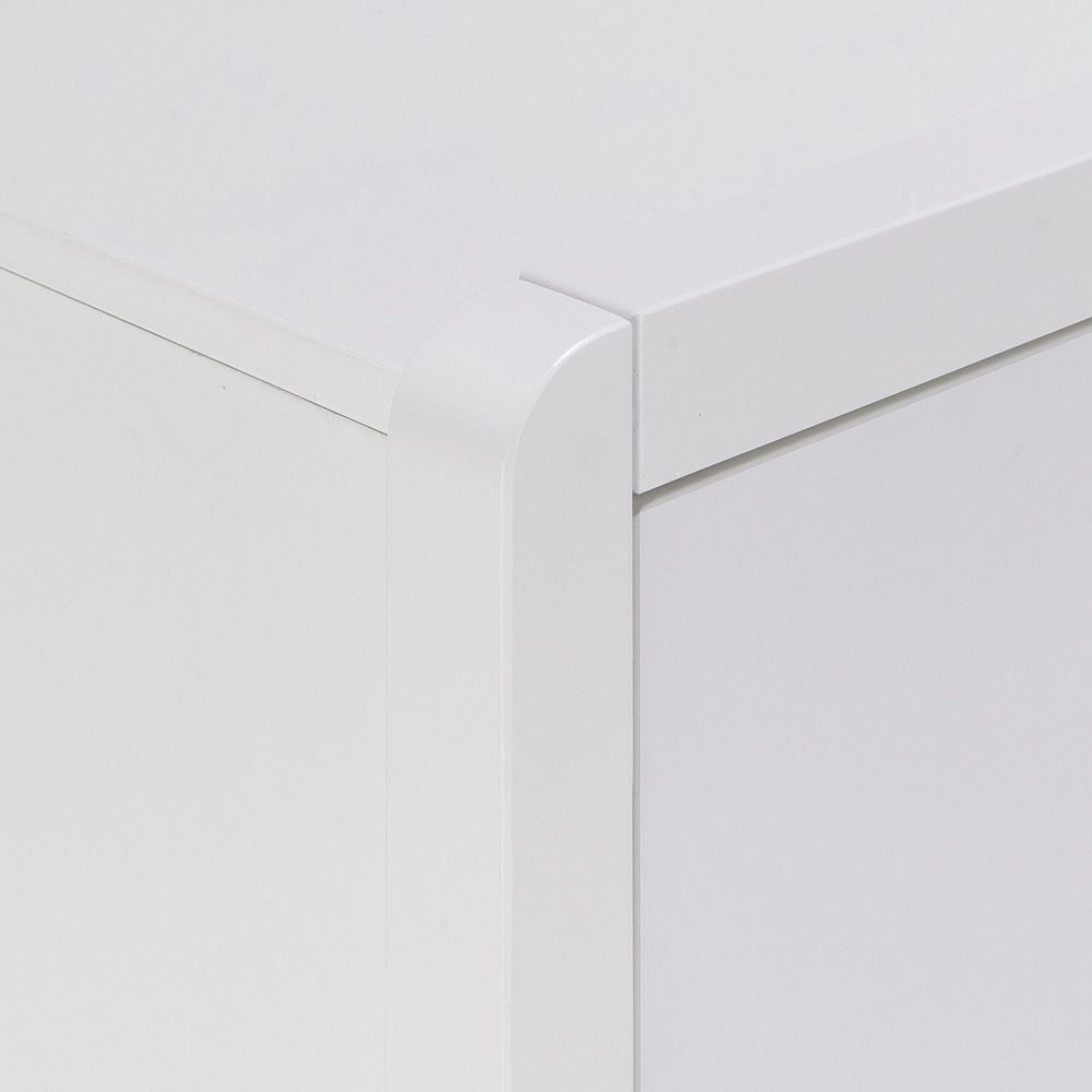 Commode 5 Tiroirs Alinea commode 5 tiroirs effet bois - blanc - alinéa | commode 5
