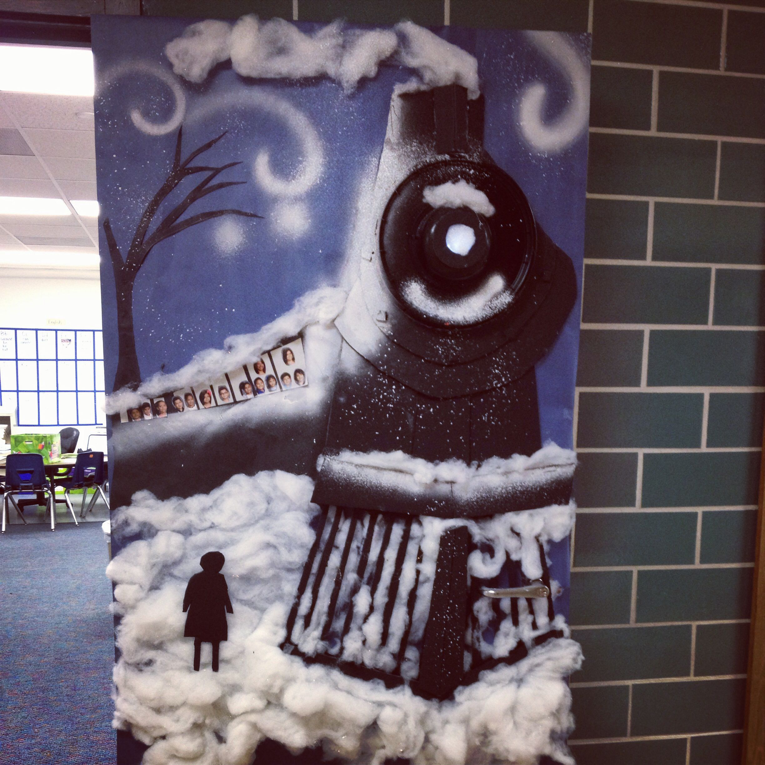 Door Decorations Christmas Contest: The Polar Express Classroom Door