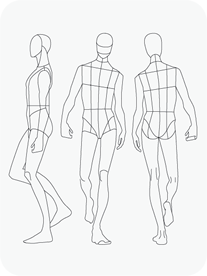 Download Fashion Figure Templates Prt Template Drawing